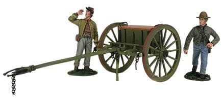 WB31293 Confederate Light Artillery Limber Set with Two Man Crew