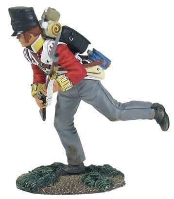 WB36123 British 44th Foot Light Company Crouching Running