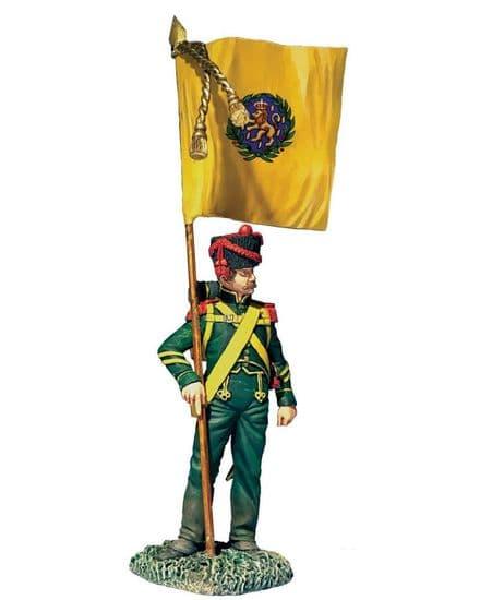 WB36182 Nassau Grenadier with Regimental Colours 1815