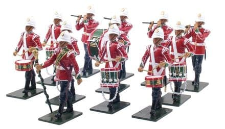 WB48008 The Corps of Drums 2nd Battalion 24th Foot 1879