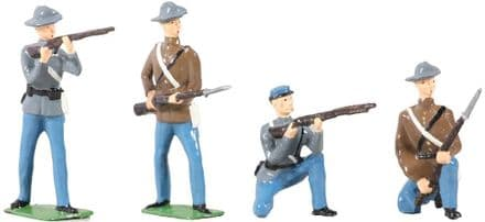 WB49025 American Civil War Confederate Infantry Set