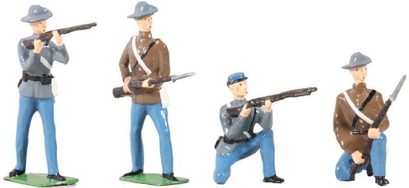 WB49025 American Civil War Confederate Infantry Set