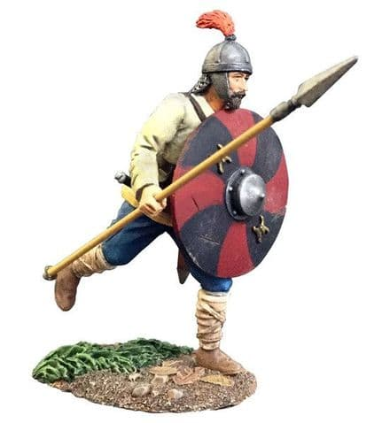WB62116 Osgar Saxon Warrior Running with Spear No.1