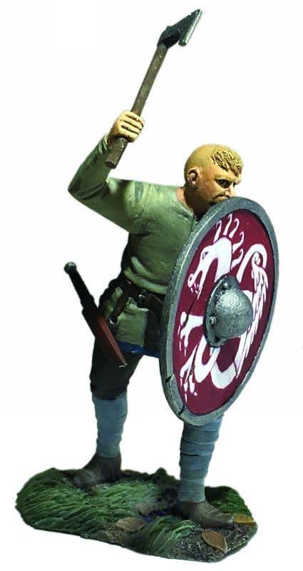 """WB62121 - """"Gustav"""" Viking Pushing With Shield"""