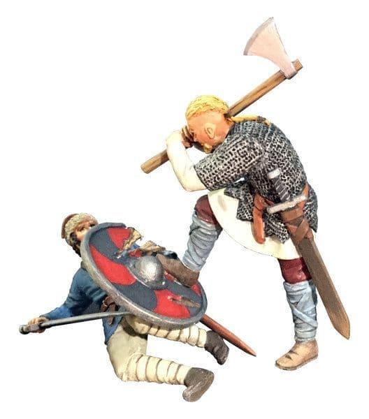 WB62122 Overwhelmed Viking Striking Downed Saxon