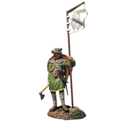 WB62131 Viking with Raven Banner (Arnlaug)