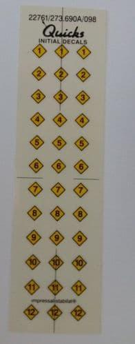 Arrow Decals Numbers