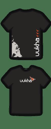 Uukha T-Shirt - 100% Cotton - Black