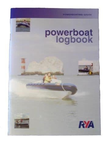 RYA BOOK LOGBOOK POWERBOAT