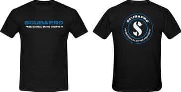 SCUBAPRO FASHION T-SHIRT - SCUBAPRO LOGO - BLACK