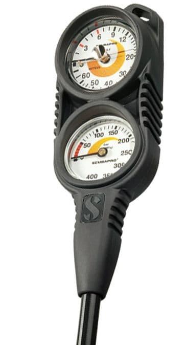 SCUBAPRO INSTRUMENT SPG COMPACT TWIN - Pressure Gauge / Depth Guage