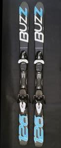 Buzz GYRO BLACK BLUE 2020 126cms  Adult Short Skis inc Tyrolia Bindings JUST ARRIVED