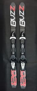 Buzz GYRO BLACK RED 2020 126cms  Adult Short Skis inc Tyrolia Bindings JUST ARRIVED