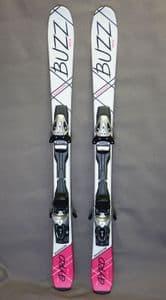 Buzz GYRO V3 Pink/Black 126cms Adult Short Skis inc Tyrolia bindings SALE