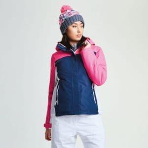 Dare2b Womens Prosperity BLUE WING/ PINK Ski Jacket Ladies sIZES 8-30