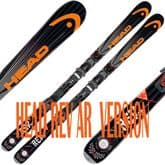HEAD REV AR ADULT SKIS 170 cms WITH bindings NEW (OLD STOCK)