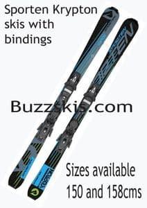 USED Sporten Krypton  158cms adult ski package with Tyrolia bindings (FR) SALE