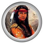 Native American Indian Warrior Themed Wall Clocks