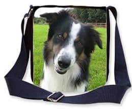 Denim Photo Bag, Personalised Denim Shoulder Bag With Any Photo, Womens Jeans Denim Material