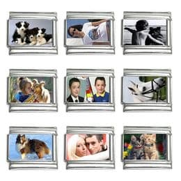 Personalised Nomination Italian Photo Charm Links 9mm (9 pack)
