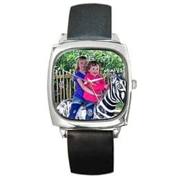 Personalised Photo Watch Square Silver Style