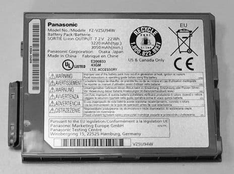 Panasonic Toughpad FZ-M1 Tablet Battery FZ-VZSU94W Genuine - New