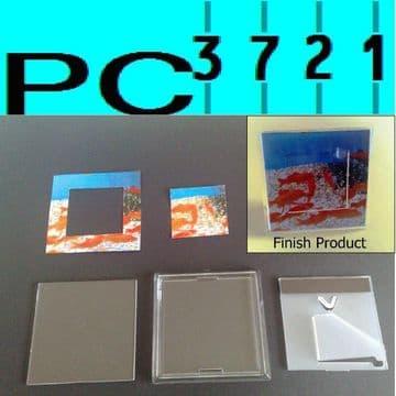 10 Fridge Magnet 3D Photo Frame 90 x 90 mm INSERT G1515