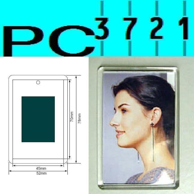 100 Blank Rectangular Clear Plastic Fridge Magnets 70 x 45 mm Insert C1108
