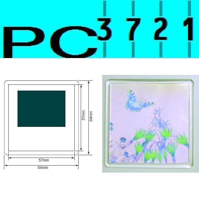 100 Blank Square Clear Plastic Fridge Magnet 57 x 57 mm Insert 99809