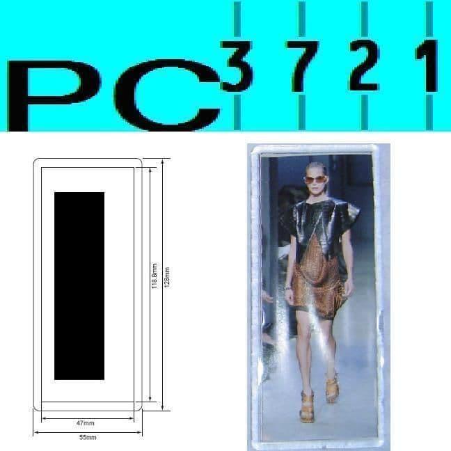 Pack of 10 Blank Rectangular Clear Plastic Fridge Magnets 119 x 47 mm Insert E1304