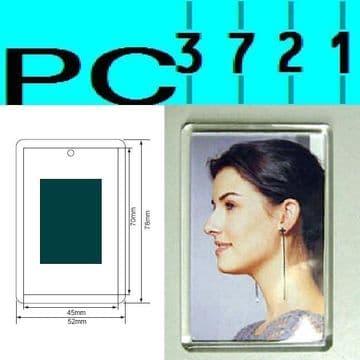 Pack of 10 Blank Rectangular Clear Plastic Fridge Magnets 70 x 45 mm Insert C1108