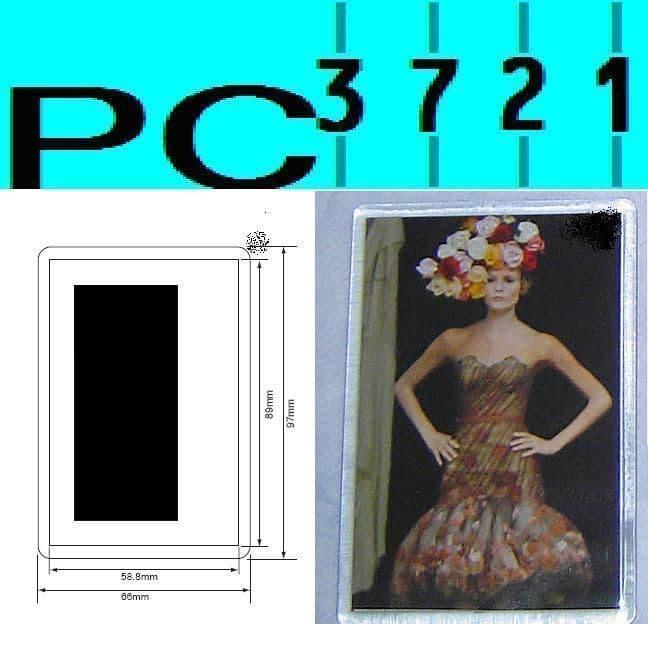 Pack of 10 Blank Rectangular Clear Plastic Fridge Magnets 89 x 59 mm Insert E1317