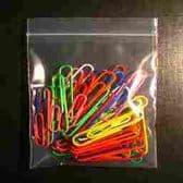 "(BW5) 114 x 114mm (4.5x4.5"") Plain Zip Lock Bags 12,000 Zip Lock Bags per box"