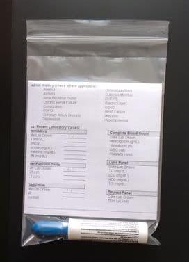 Clear Medical Specimen Grip Seal Zip Lock Bag 6 x 9